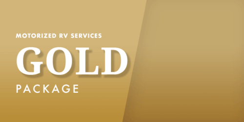 motorized rv services gold package